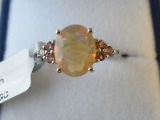 L@@K Lovely Ethiopian Opal Ring with Gouveia Andalusite 9k White Gold 1.73cts