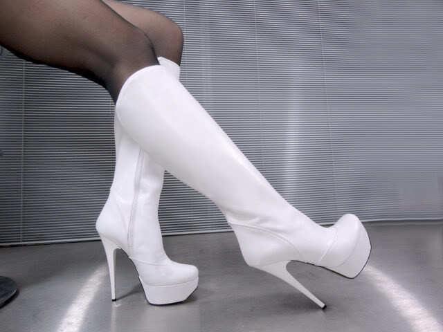 Zapatos de mujer baratos zapatos ITALY de mujer MORI ITALY zapatos PLATFORM HEEL KNEE HIGH BOOTS STIEFEL STIVALI LEATHER WHITE BIANCO 42 63d5ec