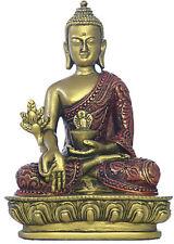 Nepali Medicine Buddha Statue Small for Desktop Gold Red O-080GR