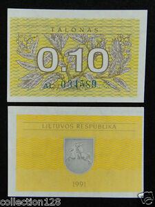 Lithuania Banknote 1 Talonas 1991 UNC