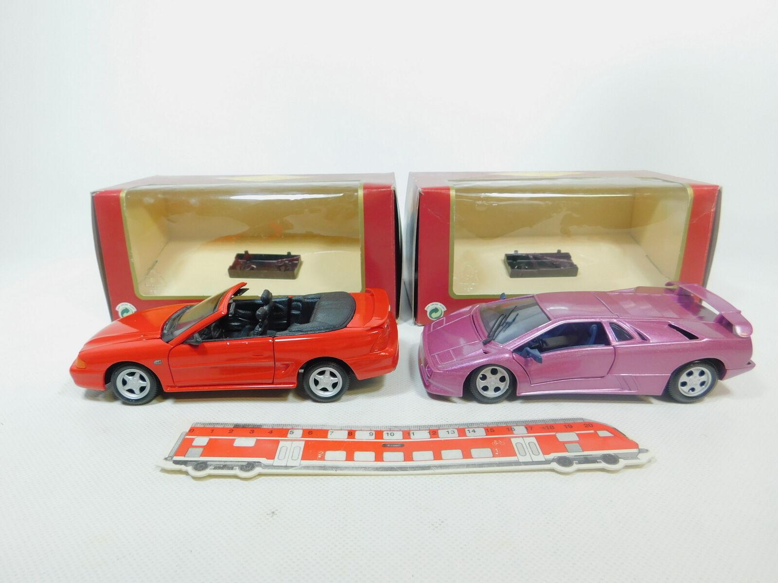 BP462-2  2x Playbear (Maisto) 1 24 Metall-PKW  Lamborghini Lamborghini Lamborghini  '94 Mustang, (OVP) 91b76f