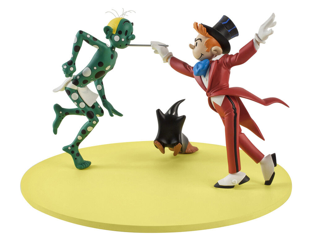 Spirou and fantasio cam and leon franquin figures and you marsupilami thieves