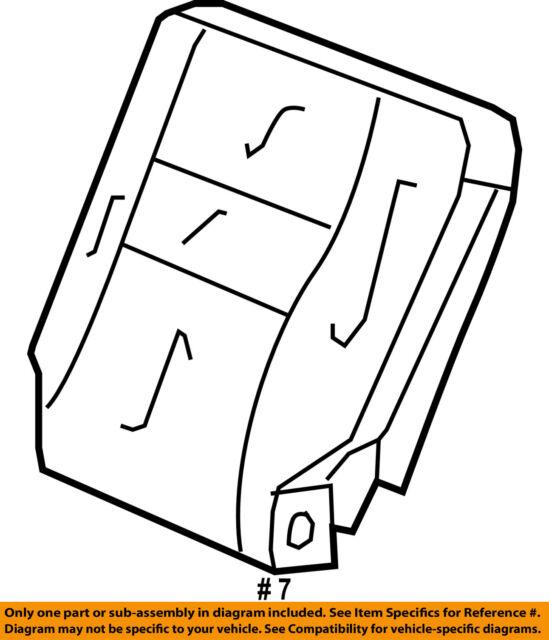 Honda Genuine 82521-SWB-A11ZE Seat Back Trim Cover Rear Left