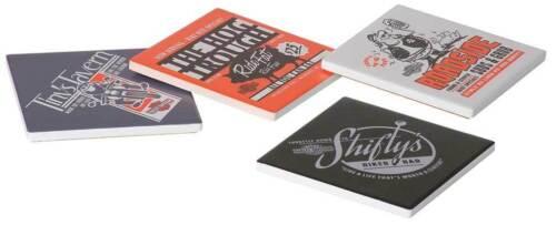 Harley Davidson Pit Stop Ceramic Coaster Set of 4 Birthday Gift HDL-18574