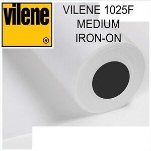 Vilene 1025F Medium IRON-ON Interfacing - per metre