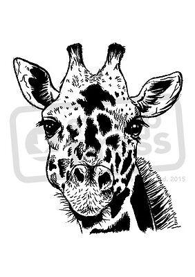 A7 'Giraffe Face' Unmounted Rubber Stamp (SP00006316)