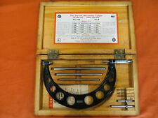 Nice Vintage Starrett No 225 Micrometer Set B 6 9 With Box Look 1759