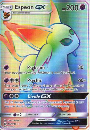 Pokemon Espeon GX Rainbow Holo 152//149 Psiana Proxy Karte