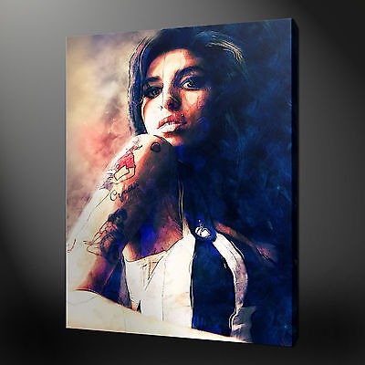 AMY WINEHOUSE CANVAS WALL ART PICTURE PRINT VARIETY OF SIZES FREE UK P/&P