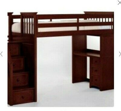 Twin Loft/bunk Bed With Desk And Stairs With Storage ...