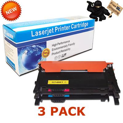 3PK CLT-Y406S Y//M//C COLOR Toner for Samsung  CLP-365W CLX-3305W CLX-3305FW C410W