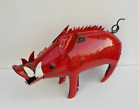 Yard Art Metal Razorback Pig Sculpture Figure 20 Animal Figure Arkansas