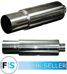 """UNIVERSAL T304 STAINLESS STEEL 5"""" EXHAUST BACKBOX SILENCER TAILPIPE JAP STYLE"""