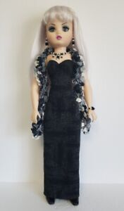 OOAK-CISSY-DOLL-CLOTHES-Boa-Gown-and-Jewelry-set-21-034-HM-Fashion-NO-DOLL-d4e