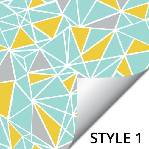 150 mm-T21 Geometric Tile Stickers Grenouille Bande Effet Triangle Abstract