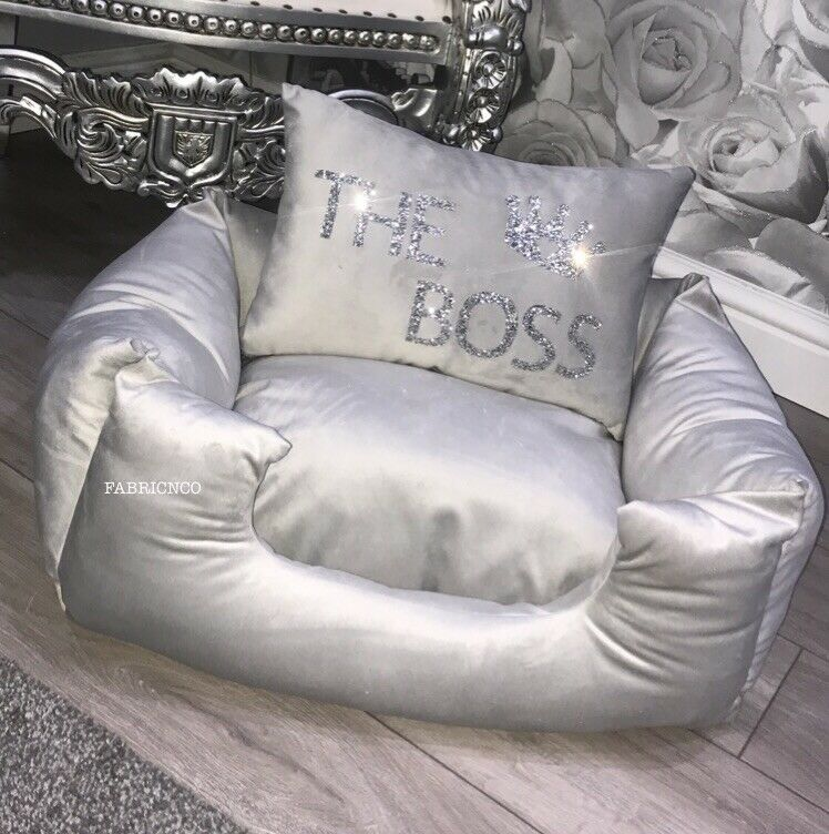 Soft Velvet Personalised Dog Pet Bed