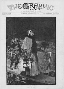 1893-FINE-ART-Antique-Print-Santa-Claus-John-Reid-Bridge-Lamp-Woman-278
