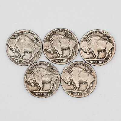 USA Coins Bufffalo Nickels 1919 P,D,S lot