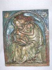 Antikes Keramik Bild Plastik Muttergottes Maria m. Kind  von Marta Kuhn Weber