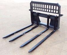 New Block Forks Frame Attachment Skid Steer Track Loader Cinder Brick John Deere