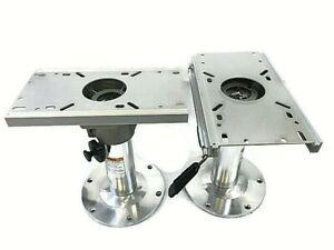 """Adjustable Boat Seat Pedestal 13/""""-17/"""" Aluminium"""