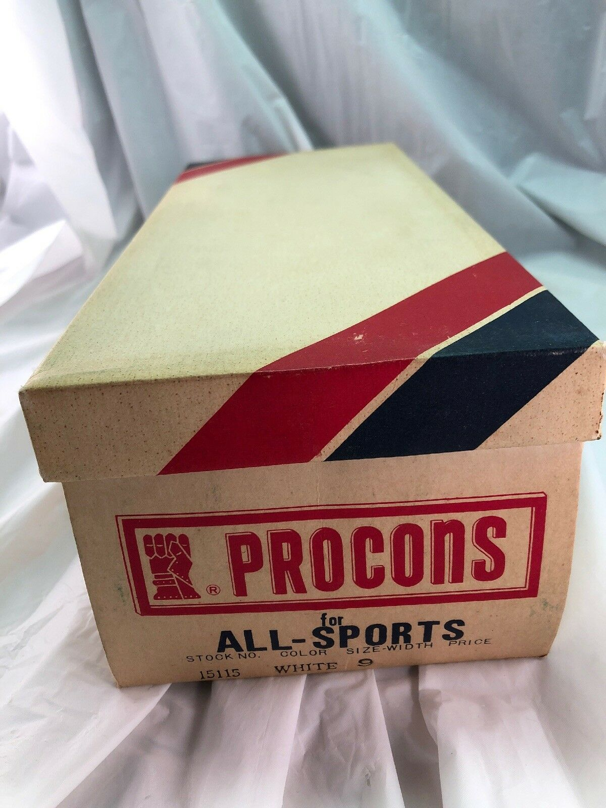 Vintage 1970s 1960s Procons for All Sports Empty scarpe da ginnastica scarpe Box