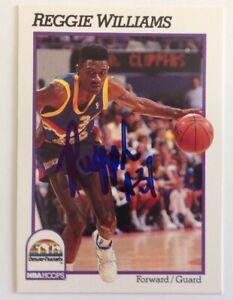 Reggie Williams 1991 Hoops Hand Signed Card Denver Nuggets