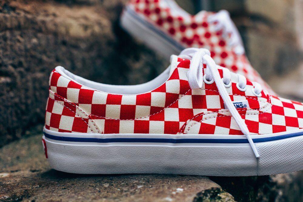 Vans Era Pro Checkerboard Red/White!