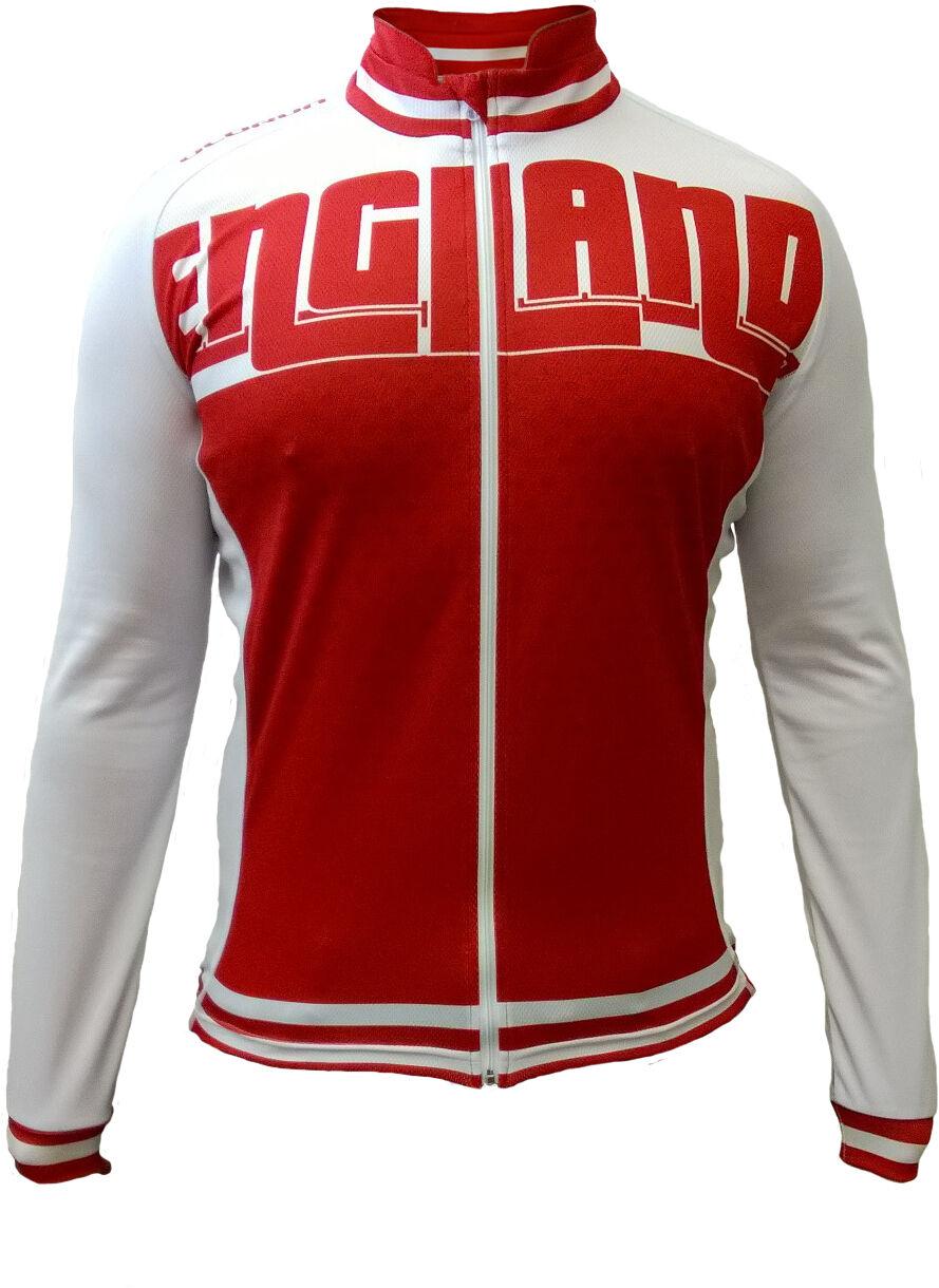 Olorun England F Z Manga Larga Ciclismo Ciclismo Ciclismo Camiseta M - 2XL  Tienda de moda y compras online.