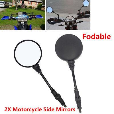 Pair Motorcycle Mirror Clamp For Honda Suzuki Yamaha Harley BMW Dirt Bikes ATVs