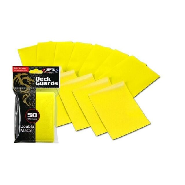 GameGenic Deck Protector Sleeves Yellow Matte Prime Sleeves 100 Count