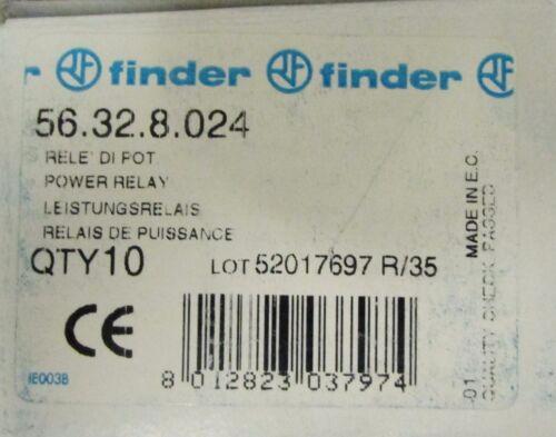 FINDER 56.32.8.024 12 Amp 24 VAC Relay 56 32 8 024 *PRICE PER EACH*