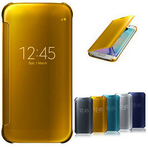 Luxury-Mirror-Smart-Clear-View-Flip-Hard-Back-Case-Cover-For-Samsung-Cellphones