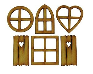 Fairy-Windows-6-Piece-Mixed-Pack-of-Wooden-Fairy-Windows-includes-Shutters
