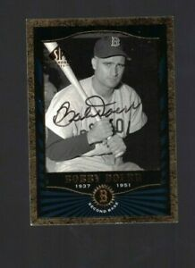 Bobby Doerr Boston Red Sox Signed 2001 SP Legendary Cuts Baseball Card W/Our COA
