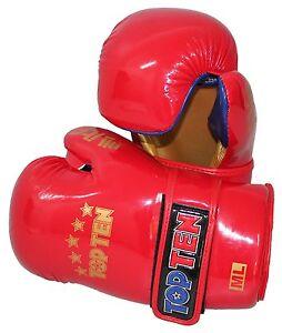 """Top Ten- Boxhandschuhe. Pointfighting """"Open Hands"""" rot. S-XL. Kickboxen."""