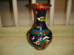 Superb Chinese Or Japanese Cloisonne Vase-Brilliant & Bold Colors & Patterns