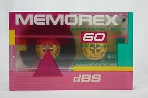 NOS-Memorex-DBS-60-Normal-Position-I-Blank-Audio-Cassette-Tape-Sealed-60-minute