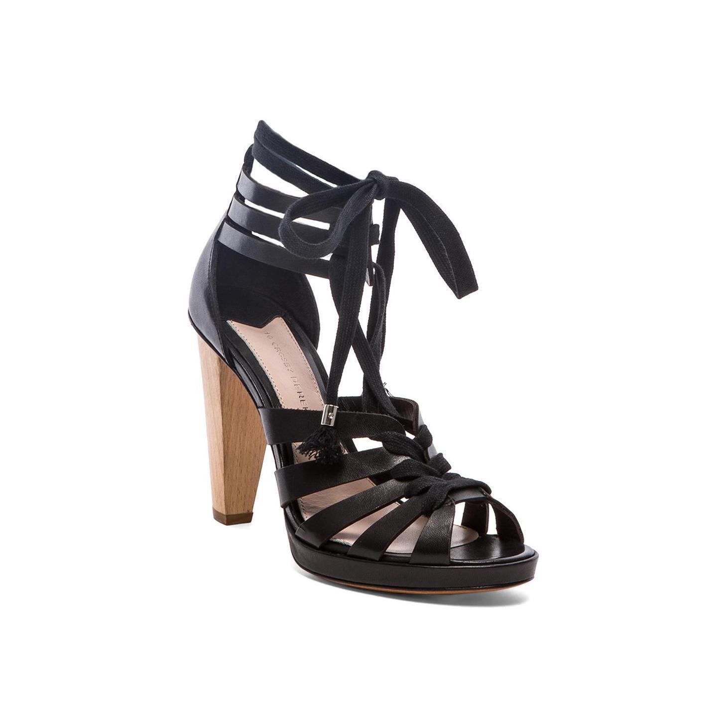per poco costoso Derek Derek Derek lam 10 crosby jasmin Donna lace-up gladiator pump wood high heels 10 40  marche online vendita a basso costo