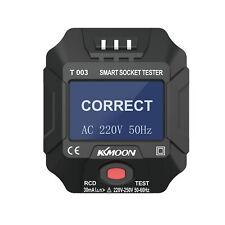 Kkmoon Outlet Tester Digital Lcd Socket Tester Electric Circuit Detector