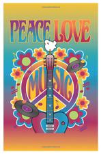 Website Password Logbook Internet Username Online Journal Book Peace Love Music