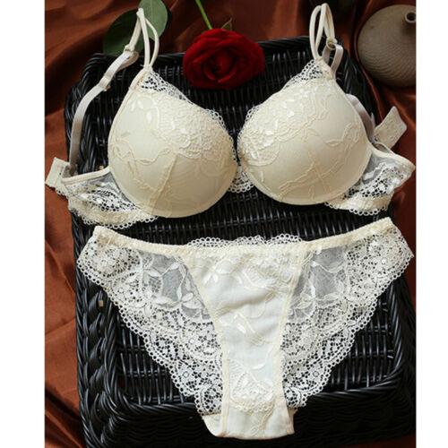Women Underwear Suit Push Up Bra Set LACE Lingerie Bra /& Knickers 32 34 36 A B C