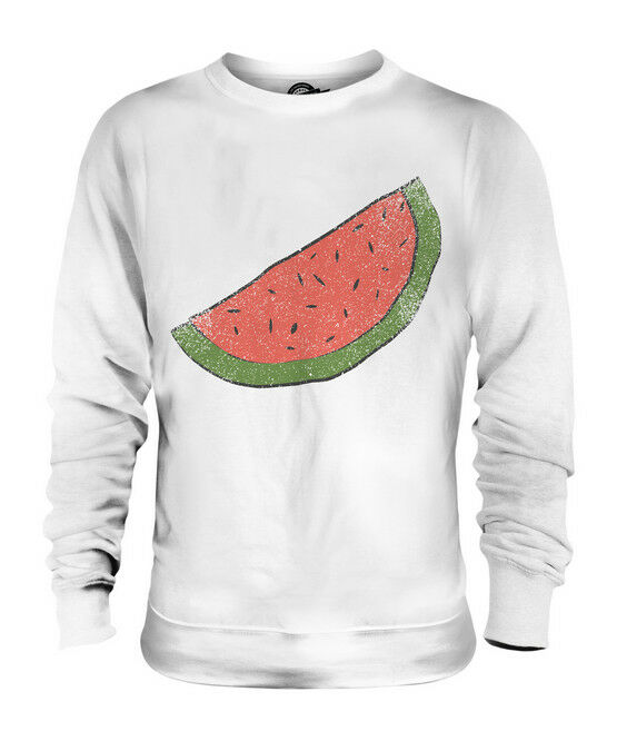 GRUNGE MELON SLICE UNISEX SWEATER  TOP GIFT SKETCH DRAWING