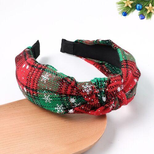 Christmas Womens Headband Twist Hairband Bow Knot Cross Tie Headwrap Hair Band