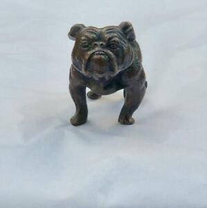 Details About Vintage Bronze English Bulldog Stud Cold Painted Bergman Style Unmarked Dog