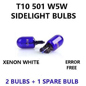 2-X-501-T10-W5W-12V-azul-de-aparcamiento-luz-lateral-bombillas-Xenonlook-Luz-Blanca-Pura