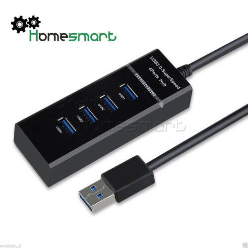 black//white Data/&Phone Charge Speed USB 3.0 Hub 4 USB Hub Splitter  AHS