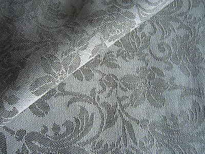 LINEN mix jacquard fabric natural flax grey beige 150cm width