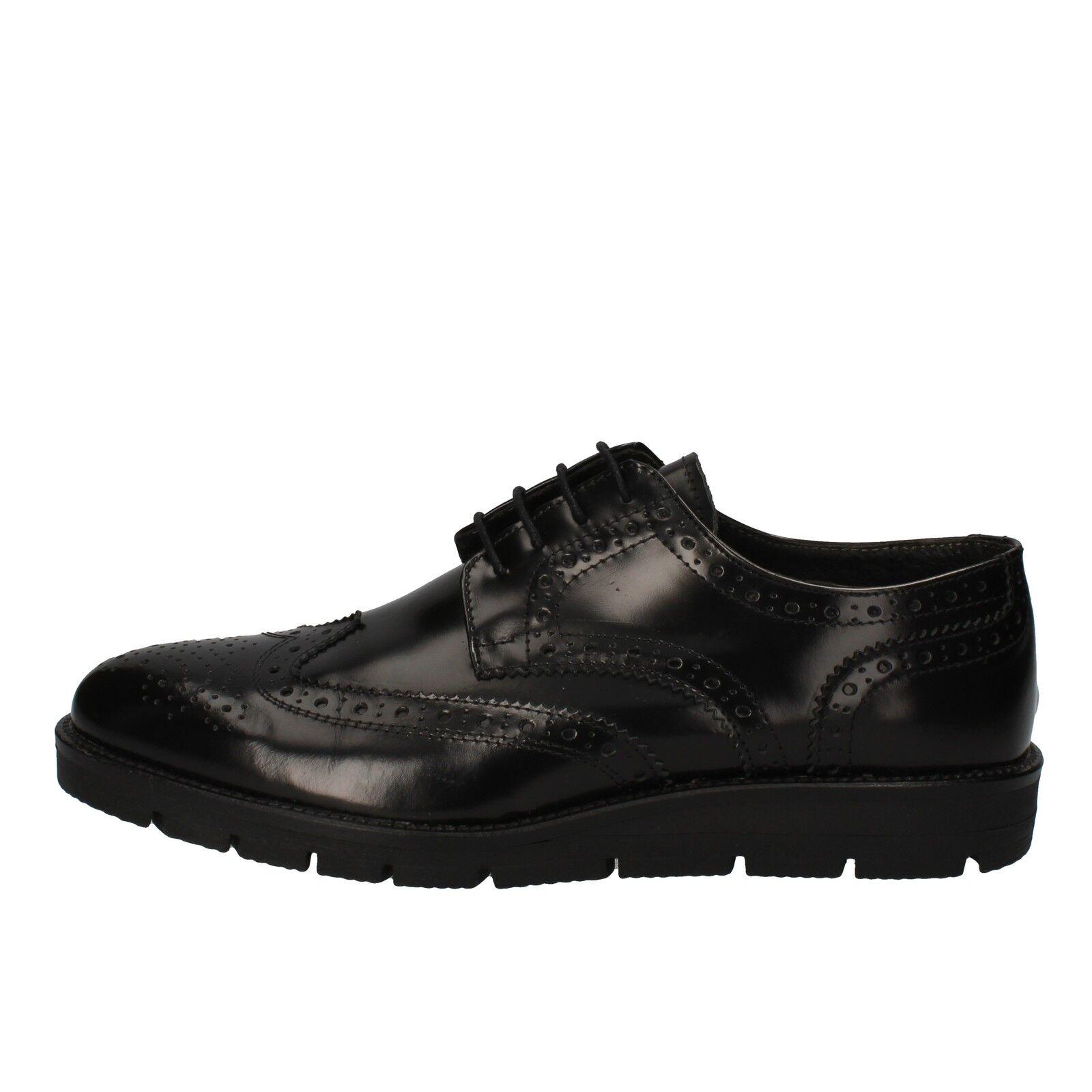 Scarpe casual da uomo  Scarpe UOMO J BREITLIN 41 UE elegante pelle nera ad14-c