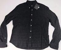 Eidos Napoli $315 Mens Cotton Flannel Long Sleeve Shirt Size 39 15.5